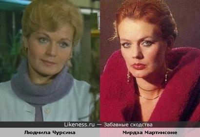 Мирдза Мартинсоне и Людмила Чурсина