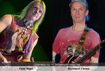 Гитаристы Валерий Гаина ( экс-Круиз ) и Стив Морс ( Дип Пёрпл )