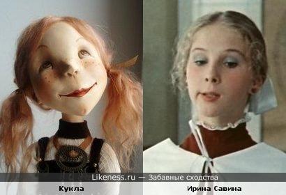 """Актриса Ирина Савина и одна из """"авторских"""" кукол.."""