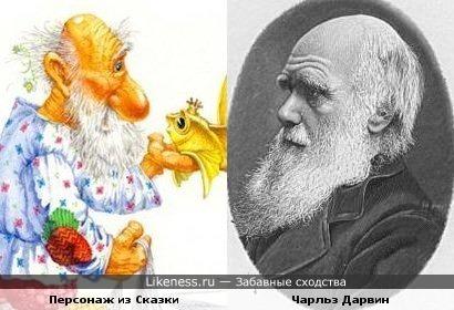 Старик из сказки о золотой рыбке и Чарльз Дарвин