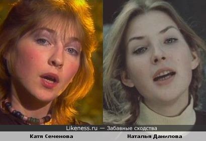 Певица Катя Семенова и актриса Наталья Данилова