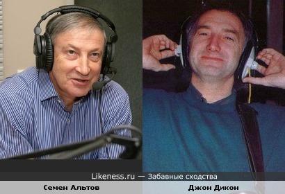 Писатель-сатирик Семен Альтов и бас-гитарист группы Queen Джон Дикон
