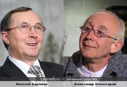 Актёры Александр Комиссаров и Николай Бурляев