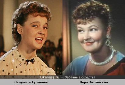 Актрисы Вера Алтайская и Людмила Гурченко