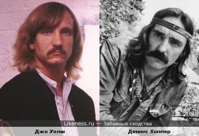Музыкант Джо Уолш ( The Eagles) и актёр Деннис Хоппер в молодости