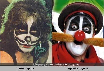 "Сергей Гладков (""Деревня дураков"") и ударник Питер Крисс (""KISS"")"