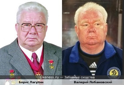 Великий тренер Валерий Лобановский и конструктор Борис Лагутин