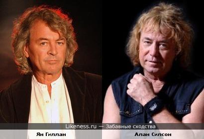 Музыканты Ян Гиллан ( Deep Purple) и Алан Силсон (Smokie)