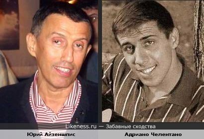 Юрий Айзеншпис и Адриано Челентано