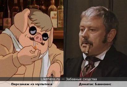 Донатас Банионис и актёр Донатас Банионис