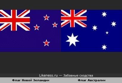 Флаги Австралии и Новой Зеландии