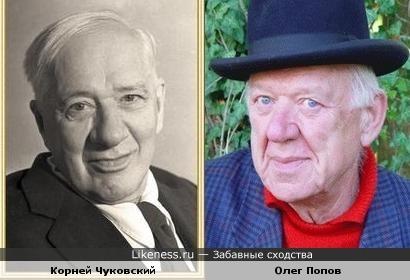 Писатель Корней Чуковский и клоун Олег Попов