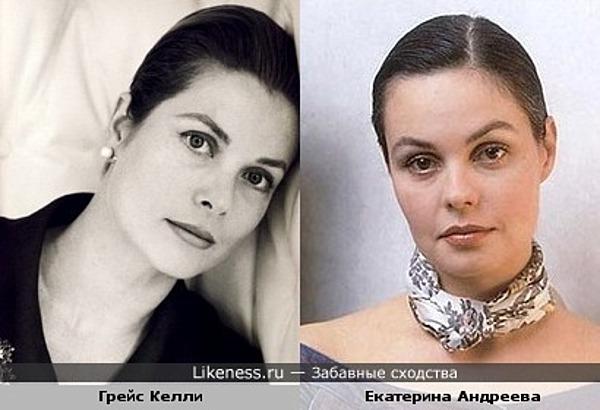 Актриса Грейс Келли и телеведущая Екатерина Андреева
