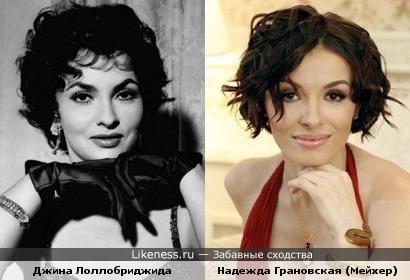 Джина Лоллобриджида и Надежда Грановская (Мейхер)
