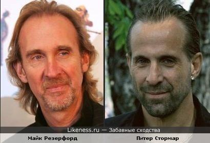 Актёр Питер Стормар и лидер гр. Genesis Майк Резерфорд