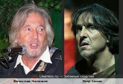 Музыкант Вячеслав Малежик и актёр Петр Семак