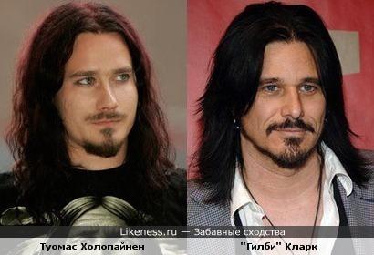 """Музыканты Туомас Холопайнен (Nightwish) и """"Гилби"""" Кларк (Guns N' Roses)"""