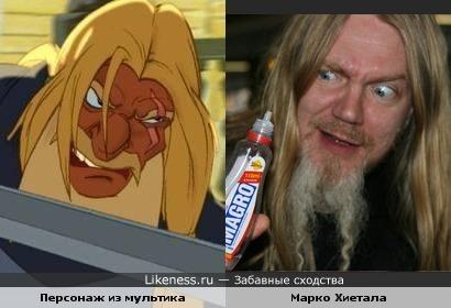 "Бас- гитарист Марко Хиетала (Nightwish) и персонаж м/ф ""Князь Владимир"""
