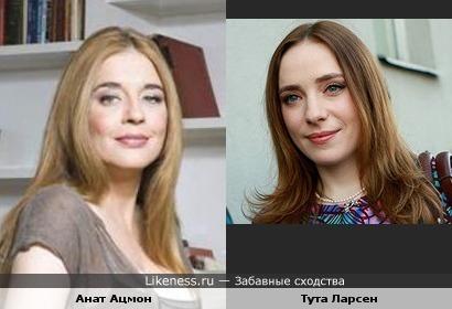 Телеведущая Тута Ларсен и актриса Анат Ацмон