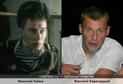 """Николай Гейко в образе """"Дембеля"""" и футболист Василий Березуцкий"""