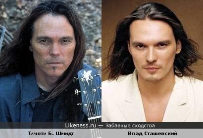 """Певец Влад Сташевский и бас-гитарист """"The Eagles"""" Тимоти Б. Шмидт"""