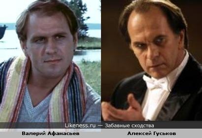 Актёры Алексей Гуськов и Валерий Афанасьев