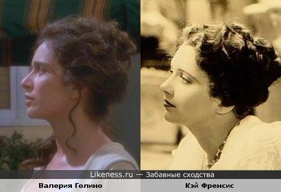 """Актрисы Кэй Френсис и Валерия Голино (к/ф""""Горячие головы"""")"""