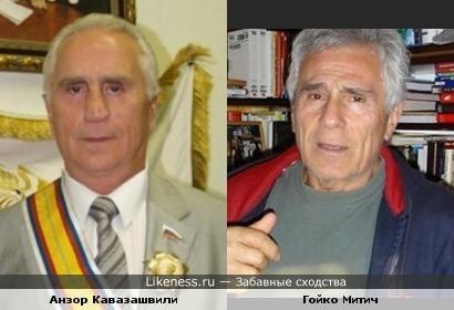 """Легендарный вратарь Анзор Кавазашвили и """"настоящий индеец"""" Гойко Митич"""