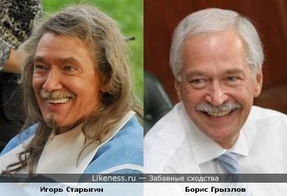 Актёр Игорь Старыгин и политик Борис Грызлов