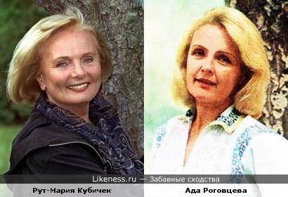 Актрисы Ада Роговцева и Рут-Мария Кубичек