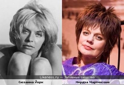 Актрисы Сюзанна Йорк и Мирдза Мартинсоне
