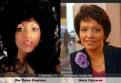 """Солистка гр.""""The Three Degrees"""" и телеведущая Ника Стрижак"""