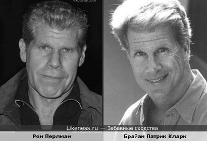Наверное братья... ( но как в жизни часто бывает- иногда природа на ком-то отдыхает).. Брайан Патрик Кларк и Рон Перлман