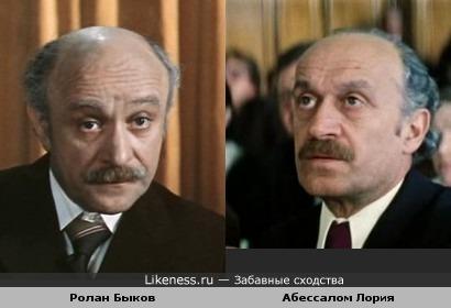 Актёры Ролан Быков и Абессалом Лория