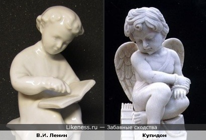 "Два ""ангелочка""......... (скульптура Володи Ульянова (Ленина) и Купидона"