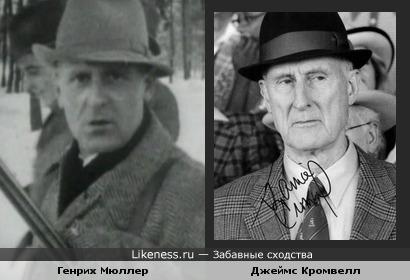 Шеф гестапо Генрих Мюллер и актёр Джеймс Кромвелл