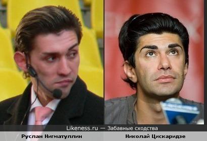 Вратарь Руслан Нигматуллин и танцор Николай Цискаридзе