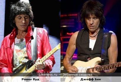 Маэстро Джефф Бек мне всегда напоминает Ронни Вуда ( The Rolling Stones )