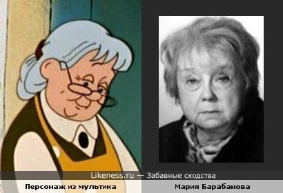Персонаж мультфильма про Машу и актриса Мария Барабанова