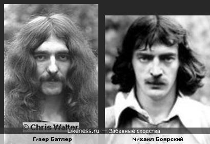 Бас-гитарист Black Sabbath Гизер Батлер и актёр Михаил Боярский
