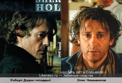 Актёры Роберт Дауни-младший и Олег Меньшиков