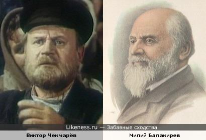 Композитор Милий Балакирев и актёр Виктор Чекмарёв