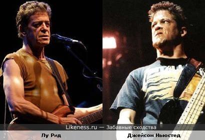 Музыканты Джейсон Ньюстед (Metallica) и Лу Рид