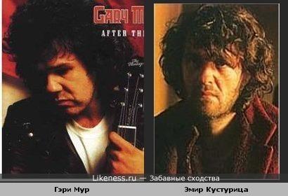 Режиссёр, музыкант Эмир Кустурица и гитарист Гэри Мур