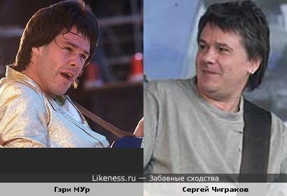 Музыкант Сергей Чиграков (ЧИЖ и К ) и гитарист Гэри Мур