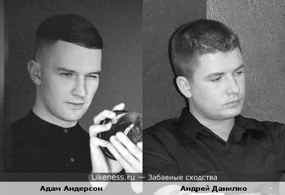 Певцы Андрей Данилко (Верка Сердючка) и Адам Андерсон (Hurts)