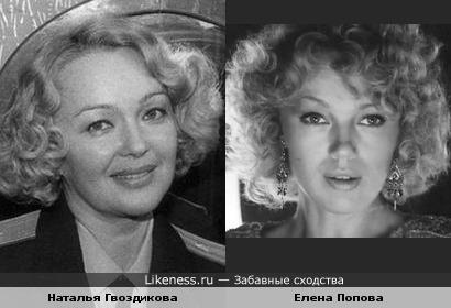Актрисы Елена Попова и Наталья Гвоздикова