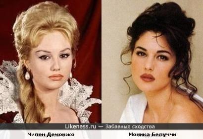 Актрисы Моника Белуччи и Милен Демонжо