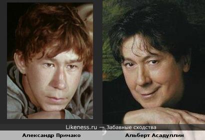 Певец Альберт Асадуллин и актёр Александр Примако