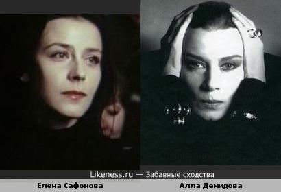 Актрисы Елена Сафонова и Алла Демидова